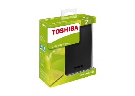 TOSHIBA 2TB Canvio Basics Portable Hard Drive USB 3.0