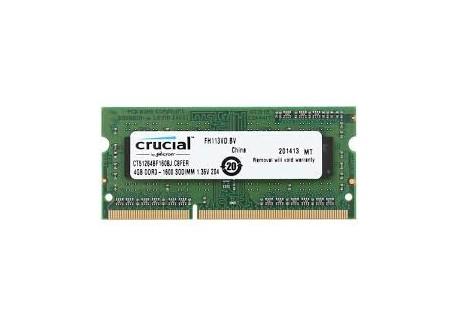 Crucial 4GB DDR3L-1600 SODIMM [CT51264BF160B]